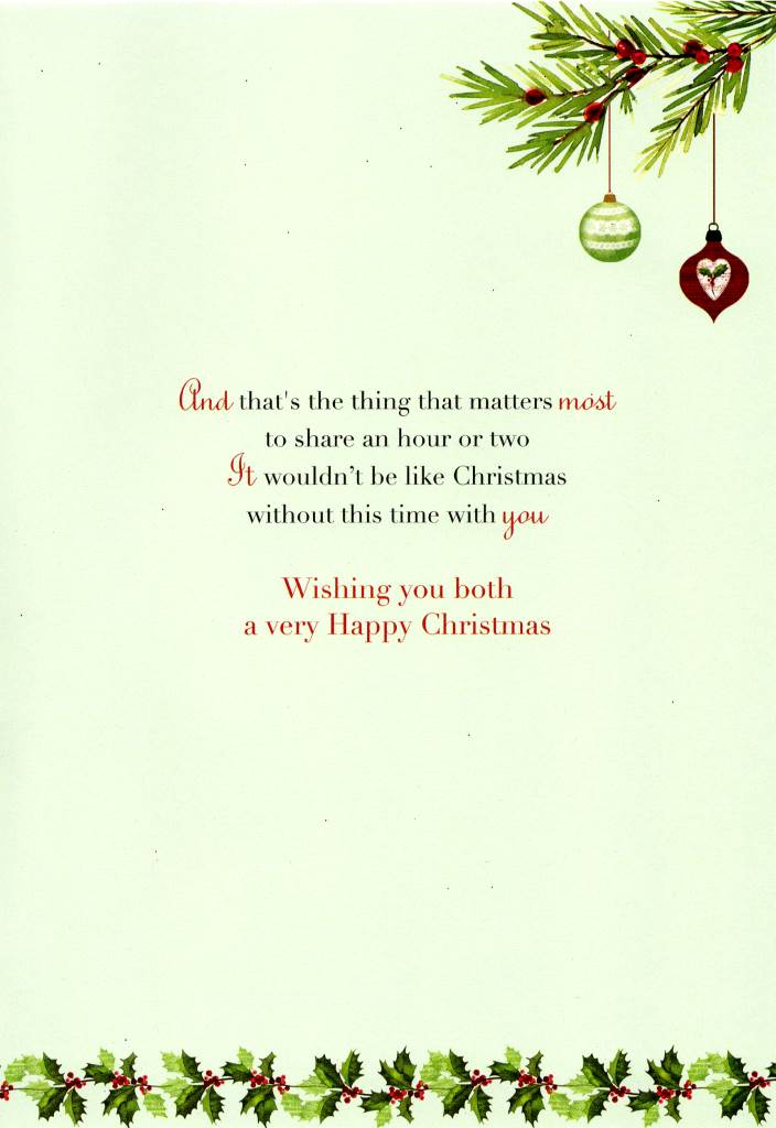 special son daughter in law christmas greeting card second nature
