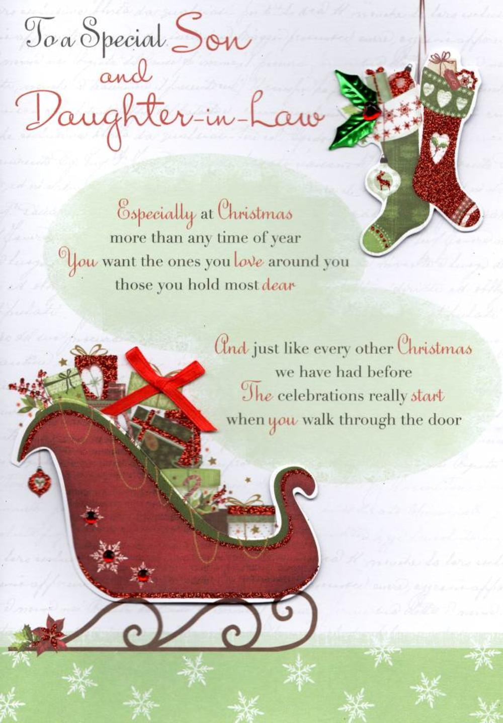 Special Son Daughter In Law Christmas Greeting Card Cards Love