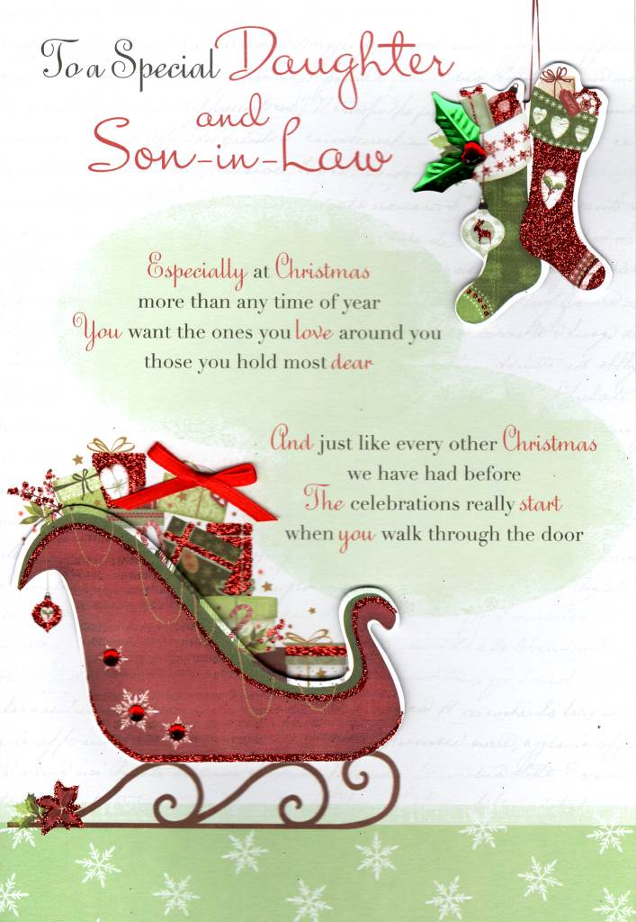 Special Daughter & Son-in-Law Christmas Greeting Card Second Nature Xmas Cards | eBay