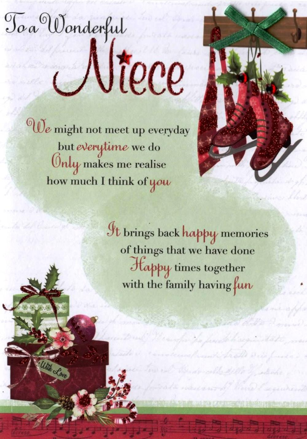 To a wonderful niece christmas greeting card cards love kates to a wonderful niece christmas greeting card out of stock kristyandbryce Choice Image