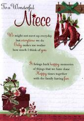 To A Wonderful Niece Christmas Greeting Card