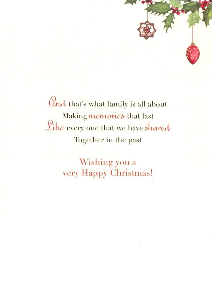 Sister brother in law christmas greeting card traditional cards sentinel sister brother in law christmas greeting card traditional cards lovely verse m4hsunfo