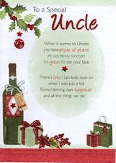 To A Special Uncle Christmas Greeting Card