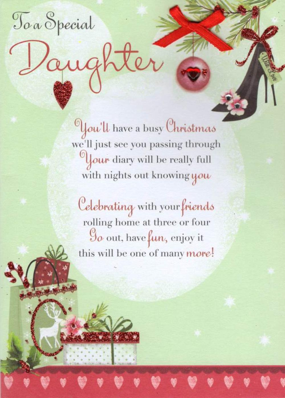 Christmas quotes to daughter all ideas about christmas and happy to a special daughter christmas greeting card cards love kates kristyandbryce Choice Image