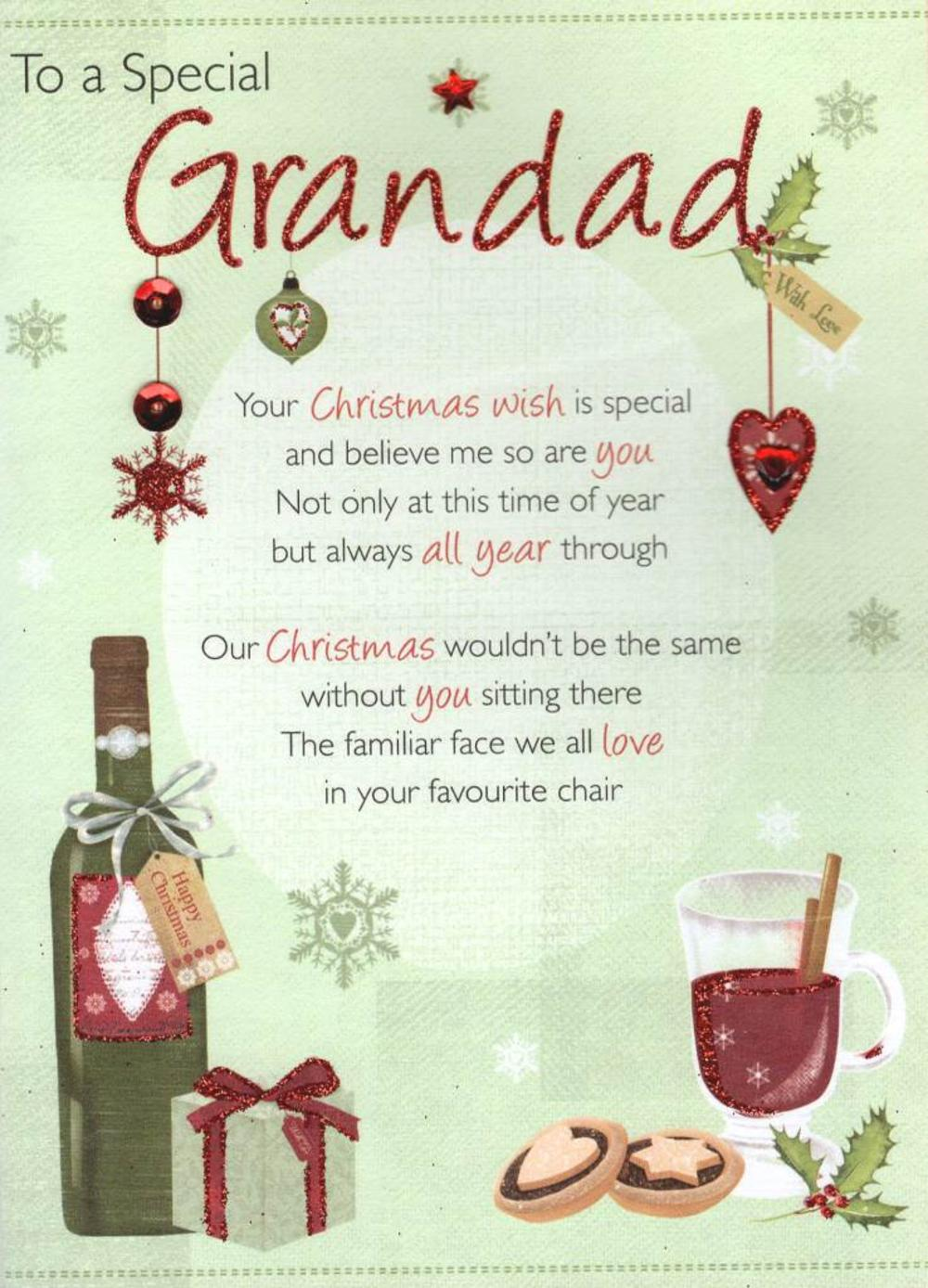 To A Special Grandad Christmas Greeting Card