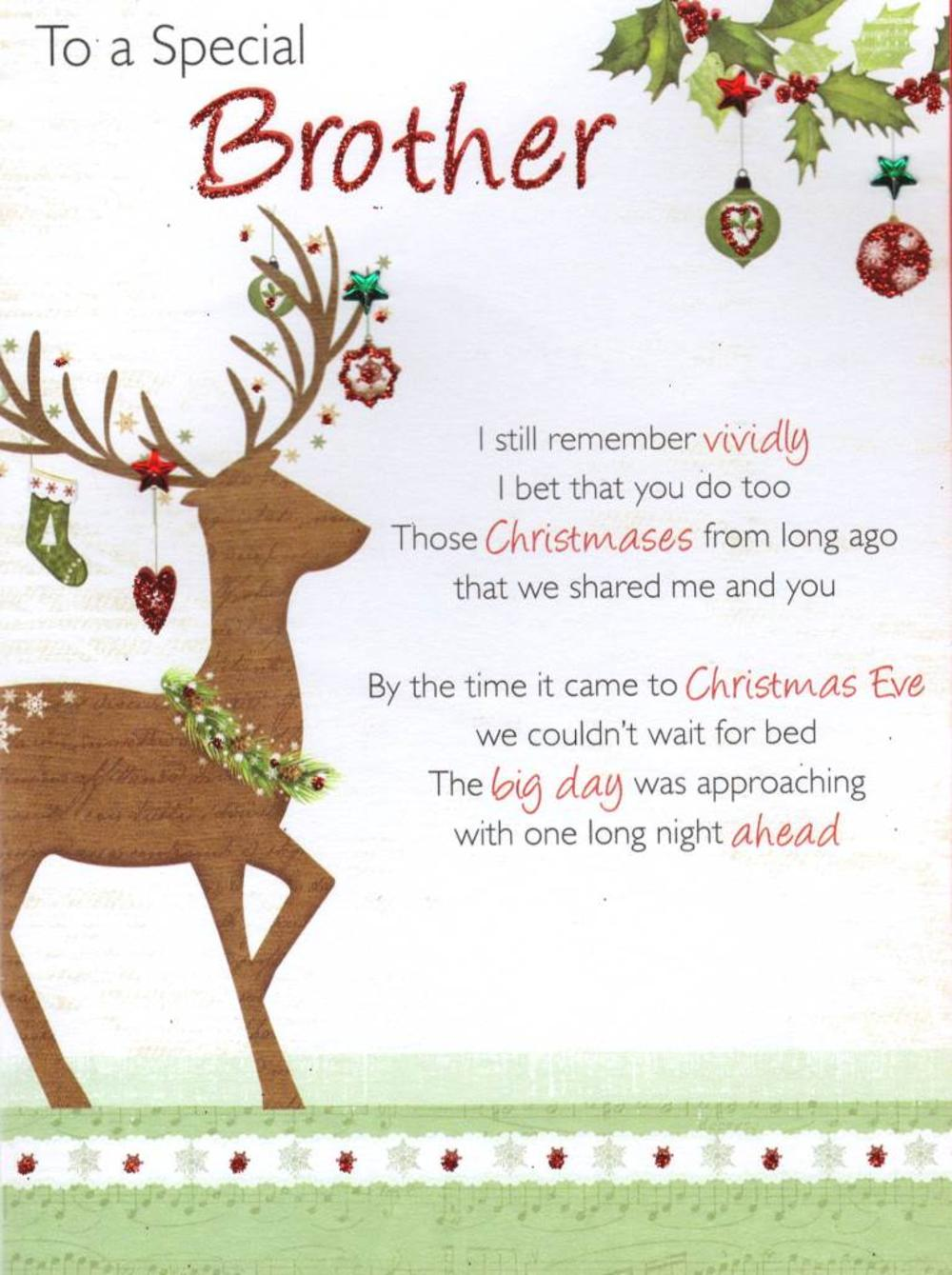To a special brother christmas greeting card cards love kates to a special brother christmas greeting card kristyandbryce Choice Image