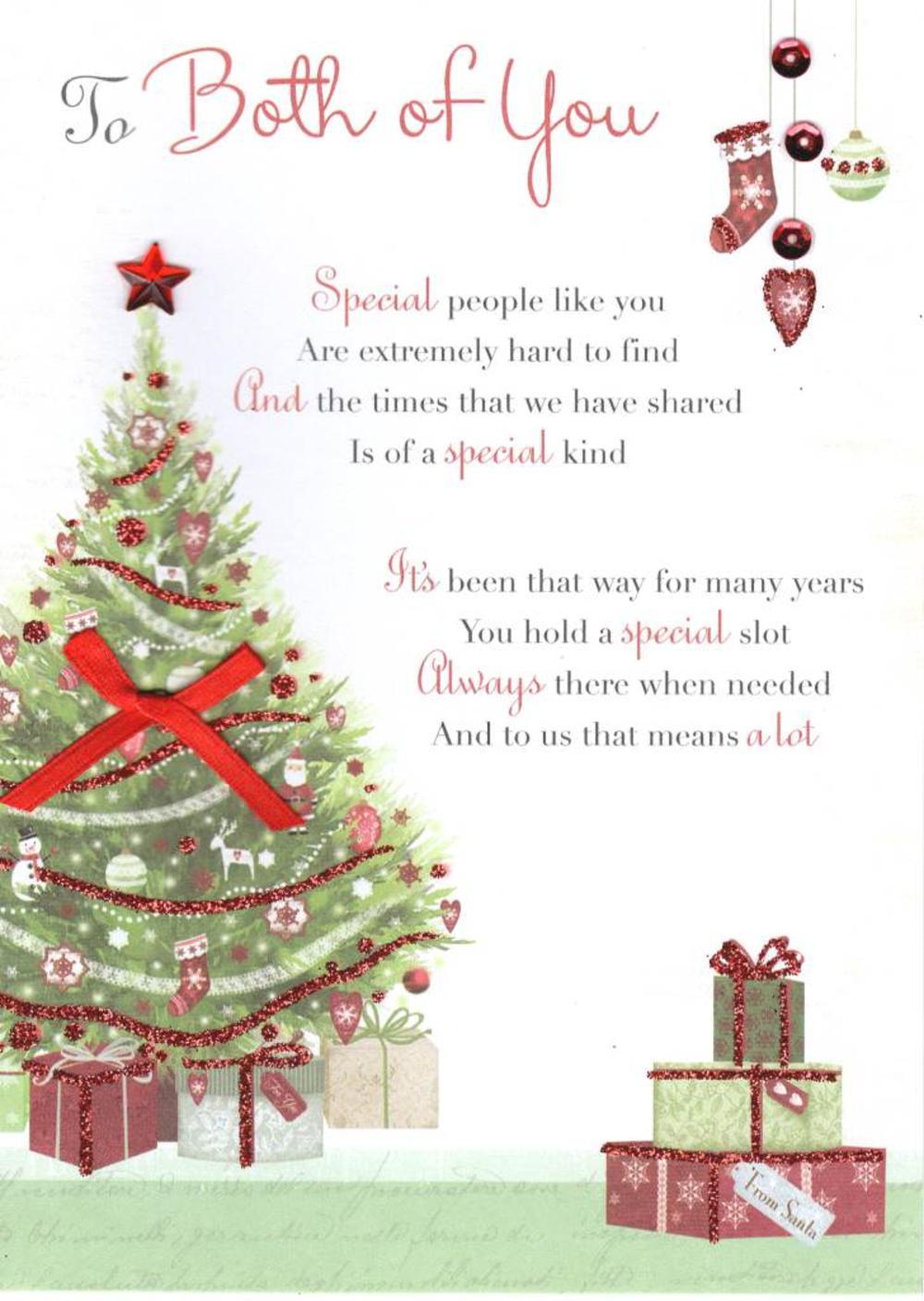 To Both Of You Christmas Greeting Card