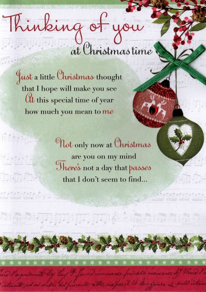 Thinking Of You At Christmas Time Greeting Card | Cards | Love Kates