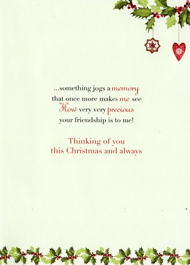 Thinking Of You At Christmas Time Greeting Card Traditional Cards ...