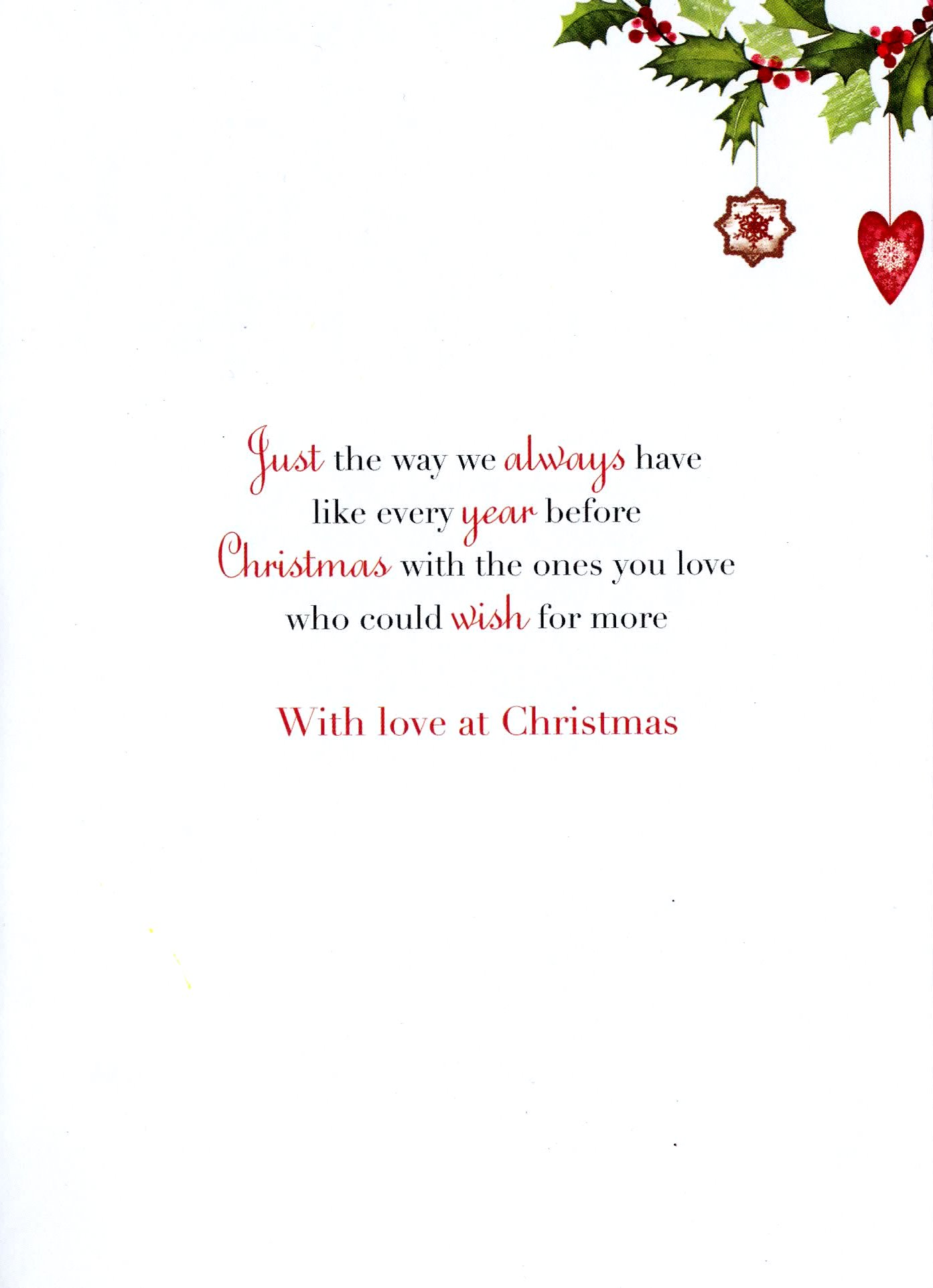 Son daughter in law christmas greeting card traditional cards sentinel son daughter in law christmas greeting card traditional cards lovely verse m4hsunfo