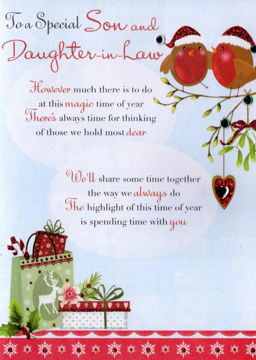 Son Daughter In Law Christmas Greeting Card Cards Love Kates