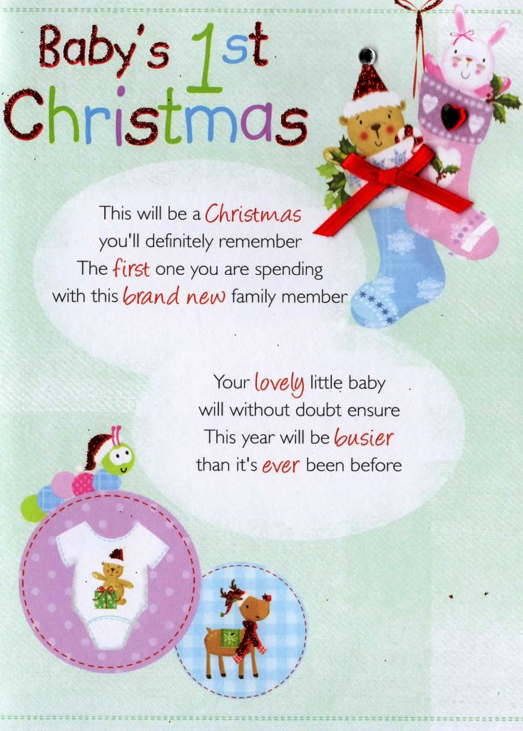 Babys 1st christmas greeting card cards love kates babys 1st christmas greeting card m4hsunfo Choice Image