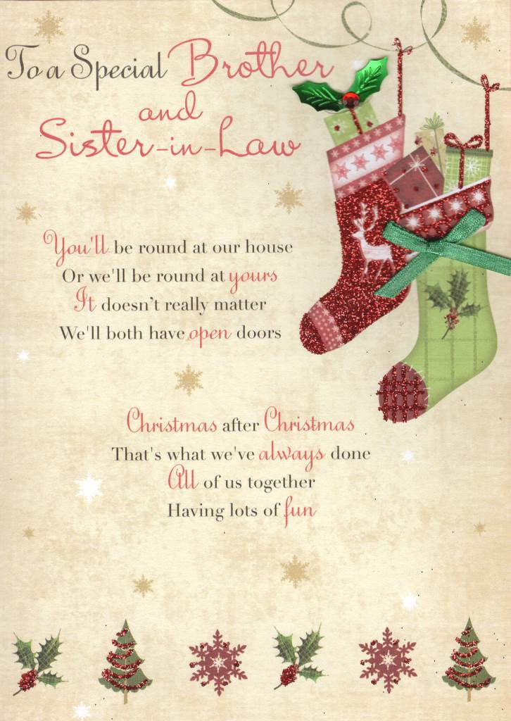 brother sister in law christmas greeting card - What To Get Sister In Law For Christmas