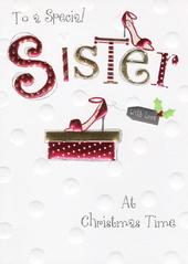 To A Special Sister Christmas Card