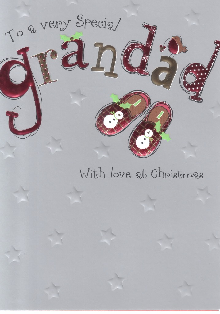 to a very special grandad christmas card  cards  love kates
