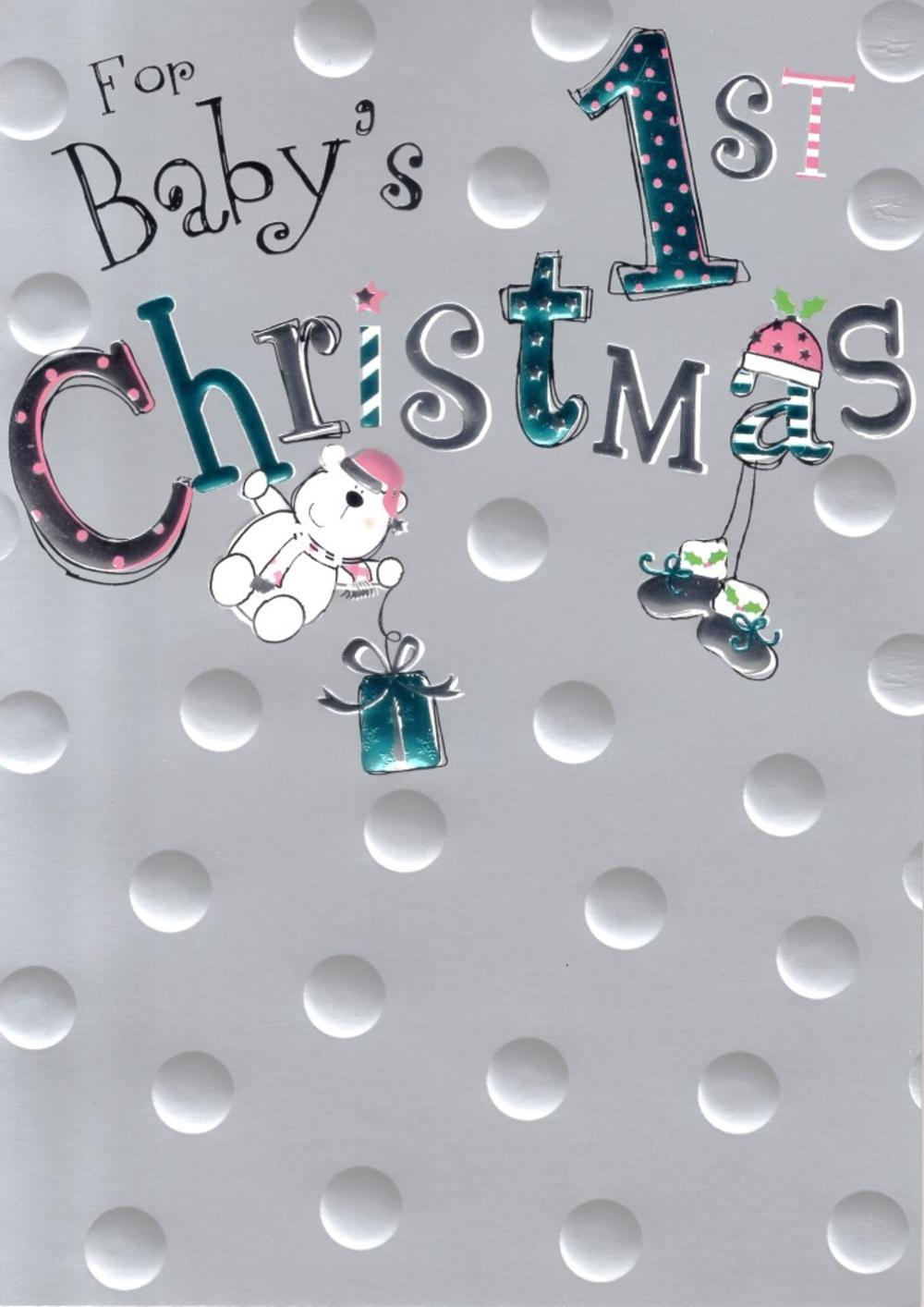 Baby's 1st Christmas Christmas Card