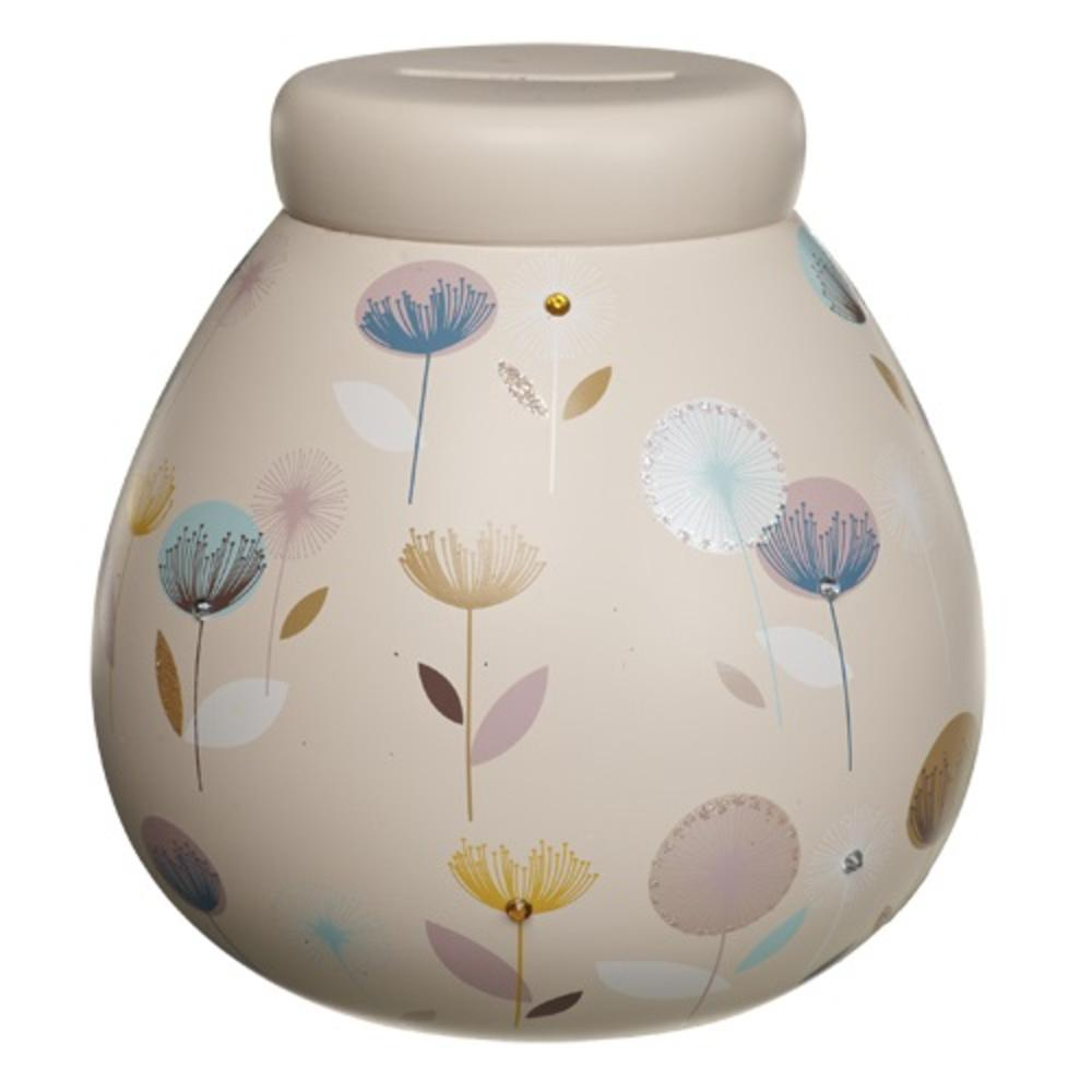 Dandelion Flowers Pots of Dreams Money Pot