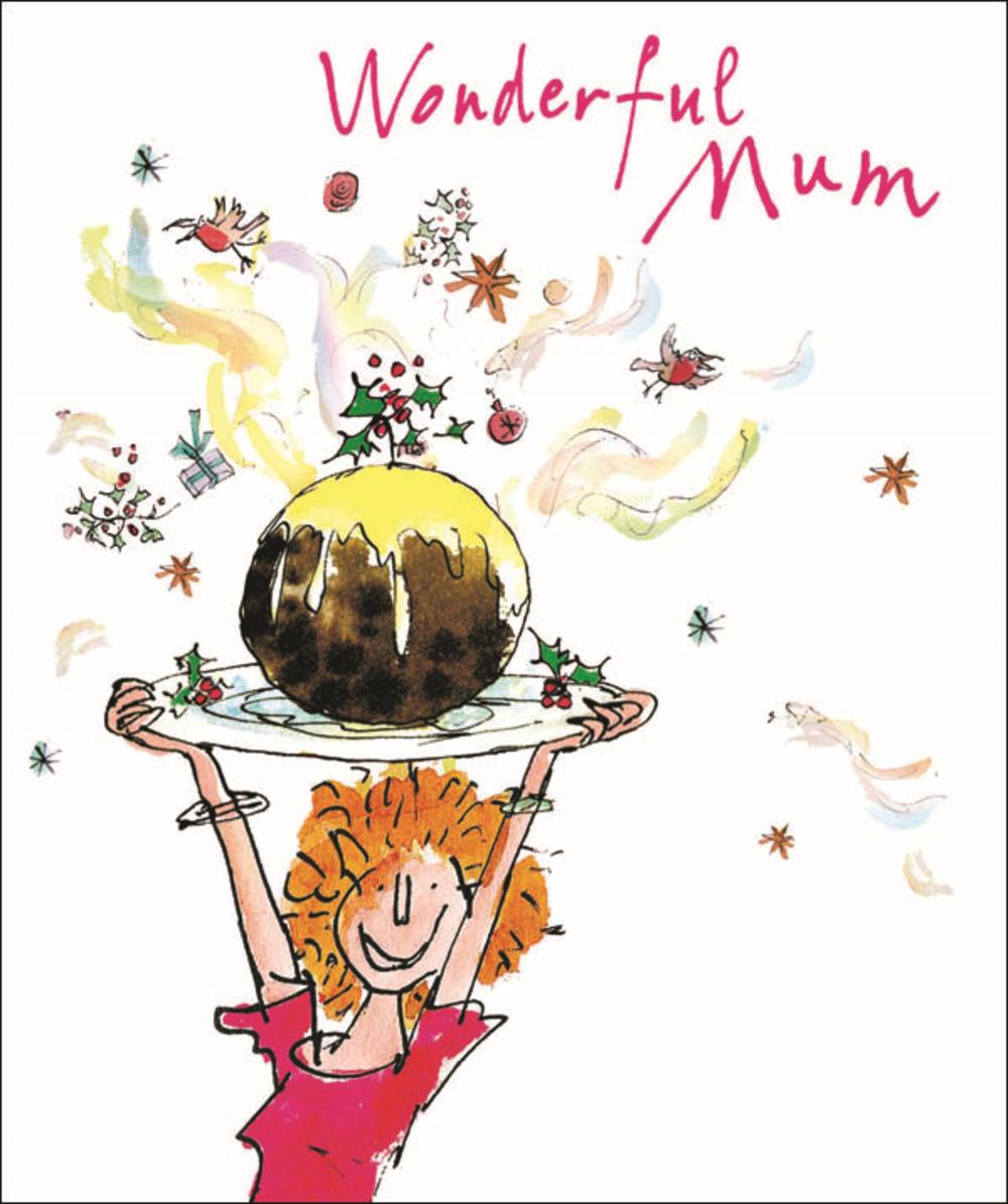 Wonderful Mum Quentin Blake Christmas Card