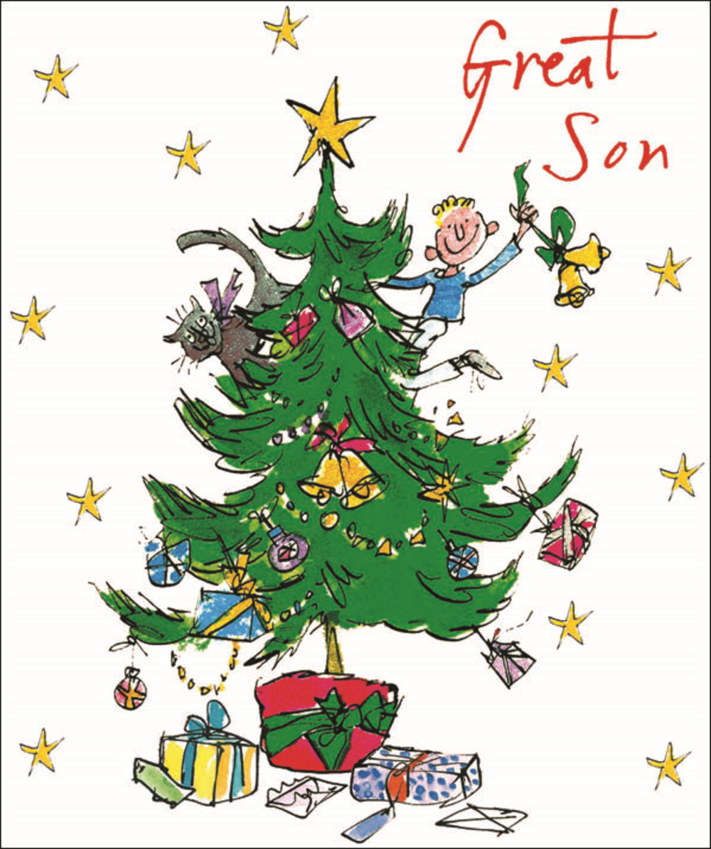 Great Son Quentin Blake Christmas Card