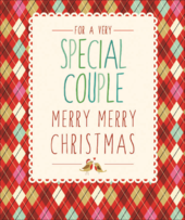 Special Couple Contemporary Christmas Card