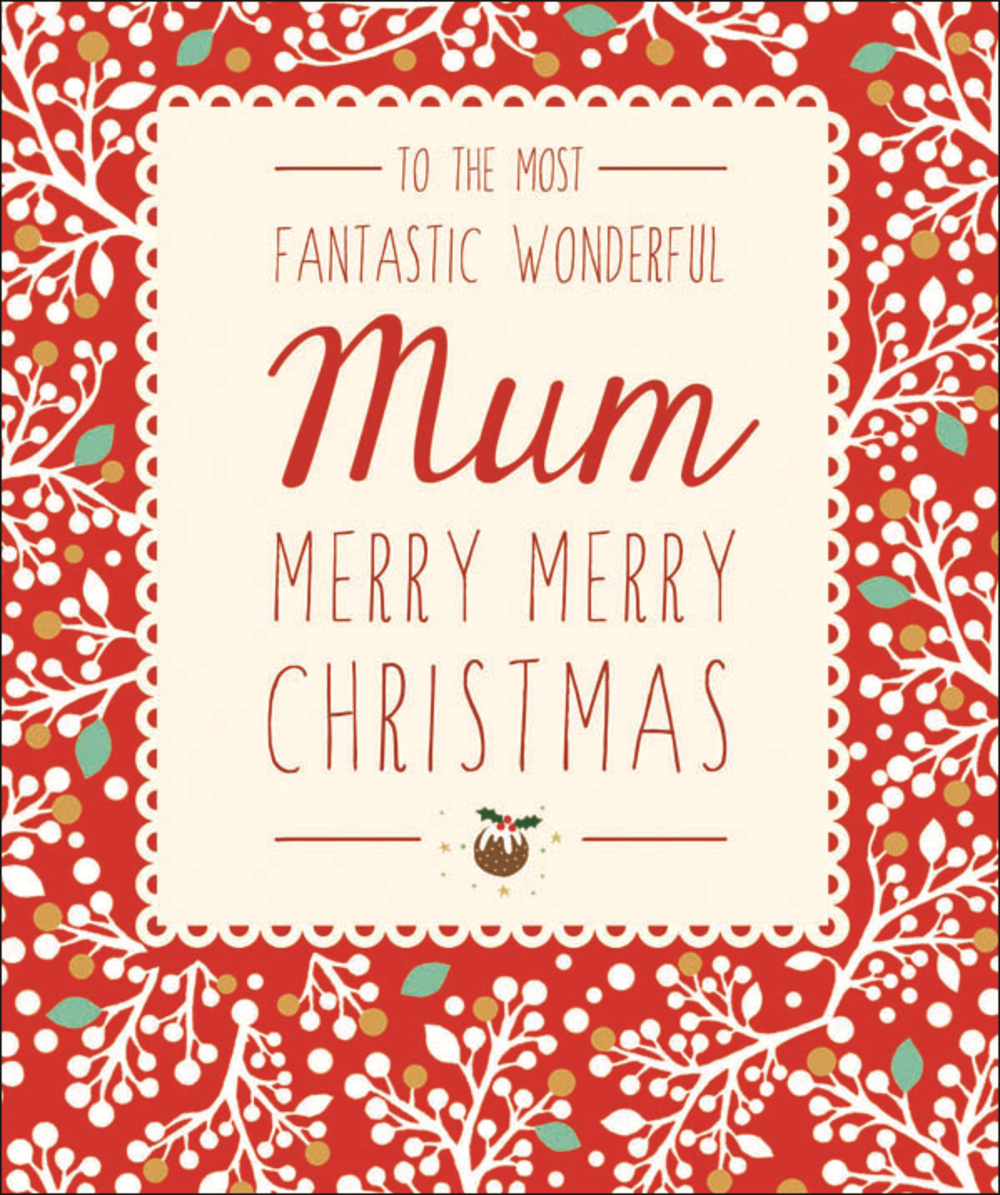 Fantastic Mum Contemporary Christmas Card