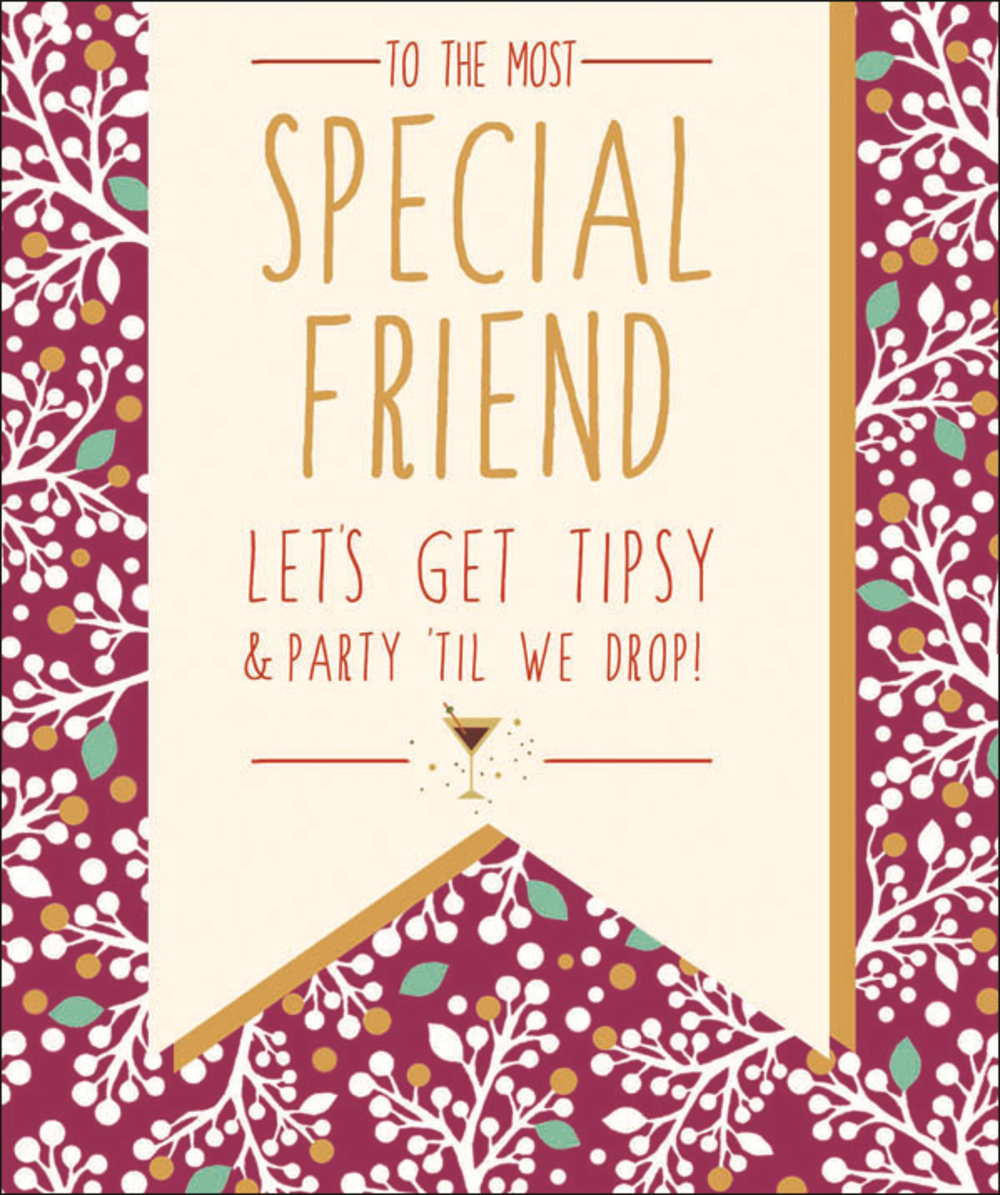 Special Friend Contemporary Christmas Card