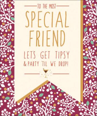Special Friend Contemporary Christmas Card