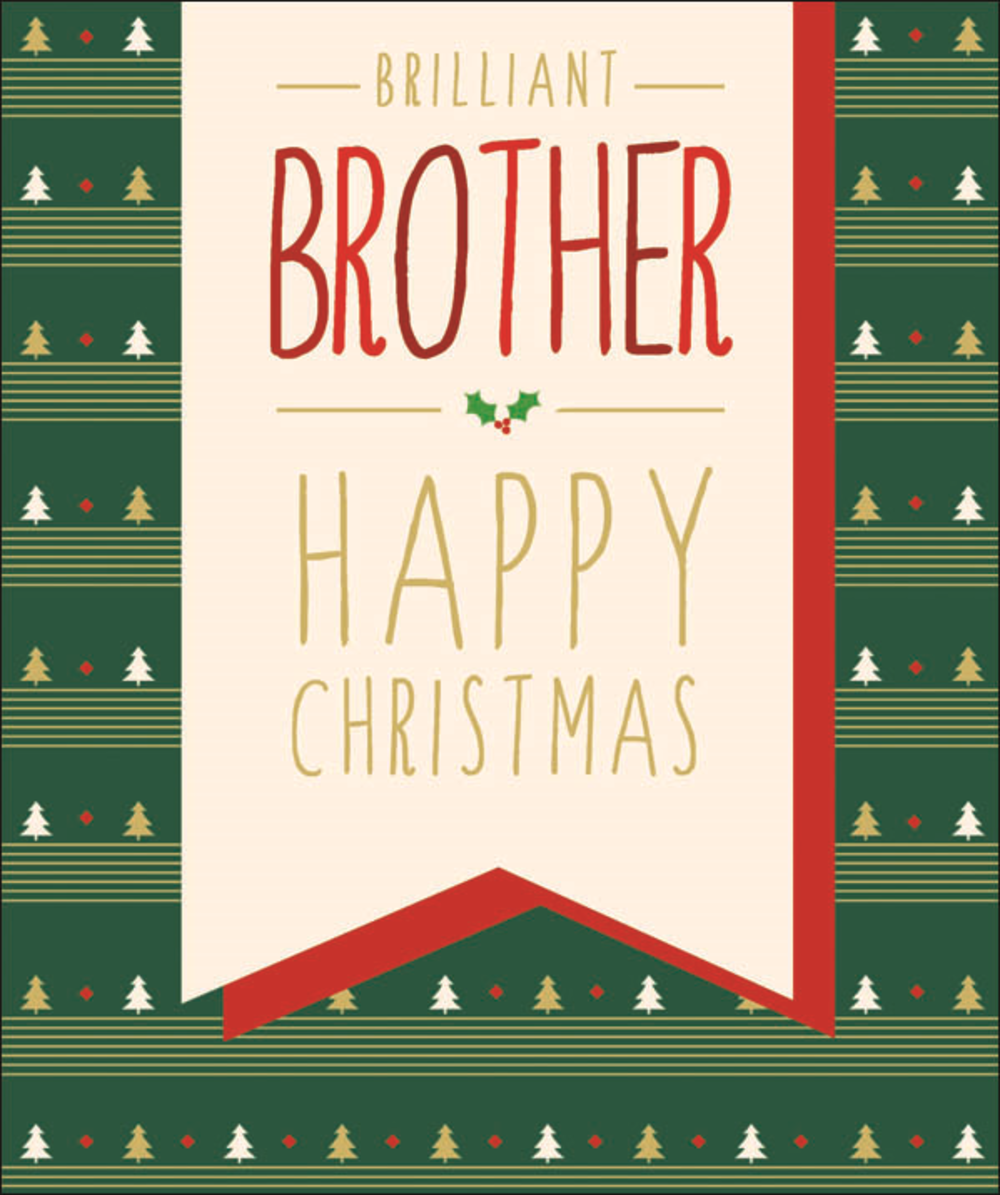 Brilliant Brother Contemporary Christmas Card