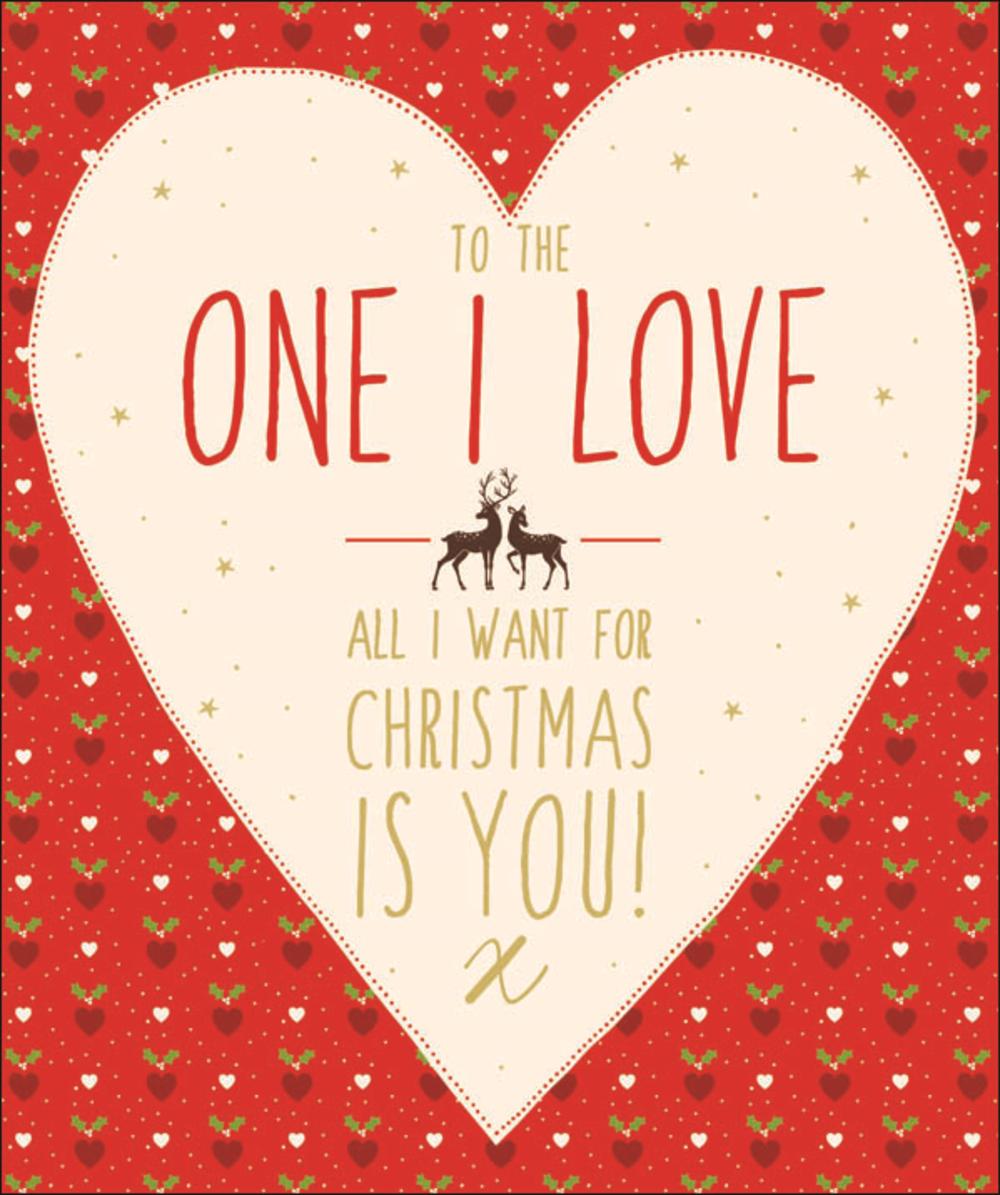 One I Love Contemporary Christmas Card