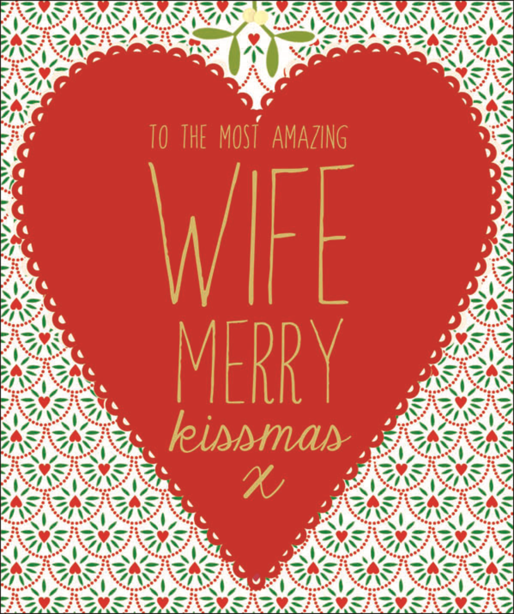 Amazing Wife Contemporary Christmas Card