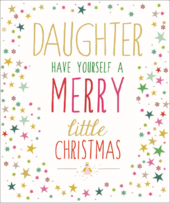 Daughter Contemporary Christmas Card