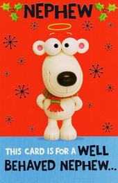 Well Behaved Nephew Funny Christmas Card