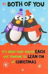 To Both Of You Funny Christmas Card
