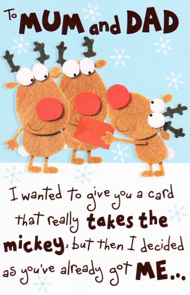 To Mum & Dad Funny Christmas Card | Cards