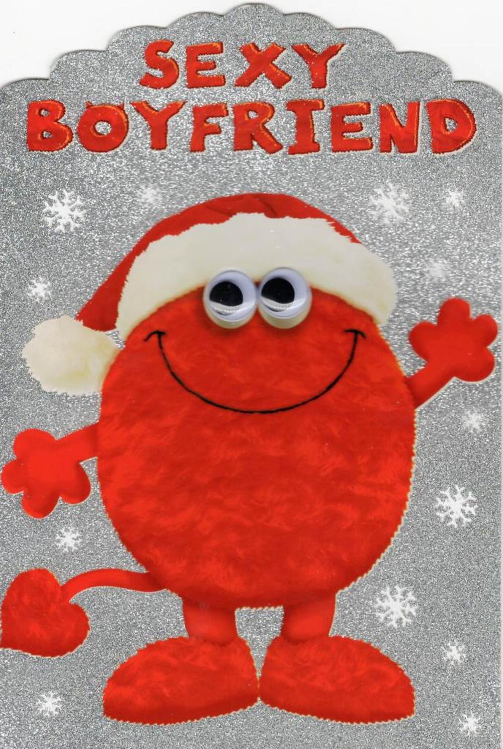 Sexy Hunky Boyfriend Monster Christmas Card