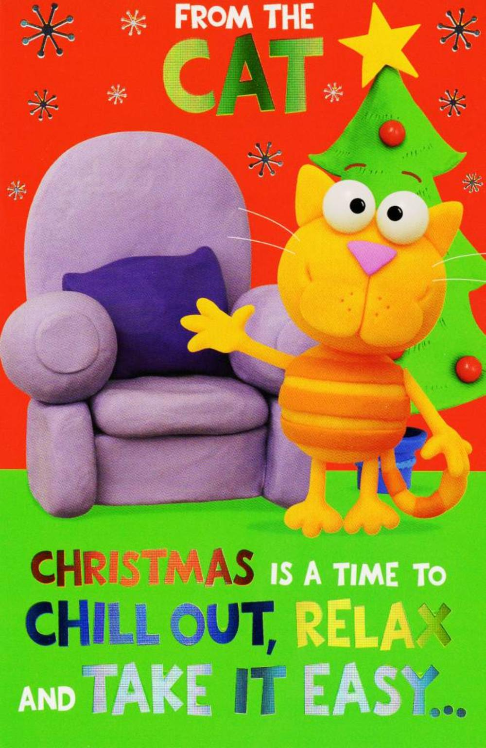 From The Cat  Funny Christmas Card