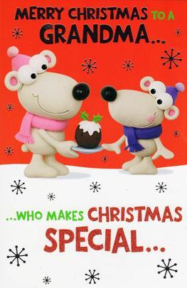 Merry Christmas Grandma Funny Christmas Card