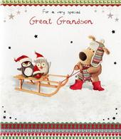 Boofle Great Grandson Christmas Card