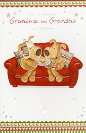Boofle Grandma & Grandad Christmas Card