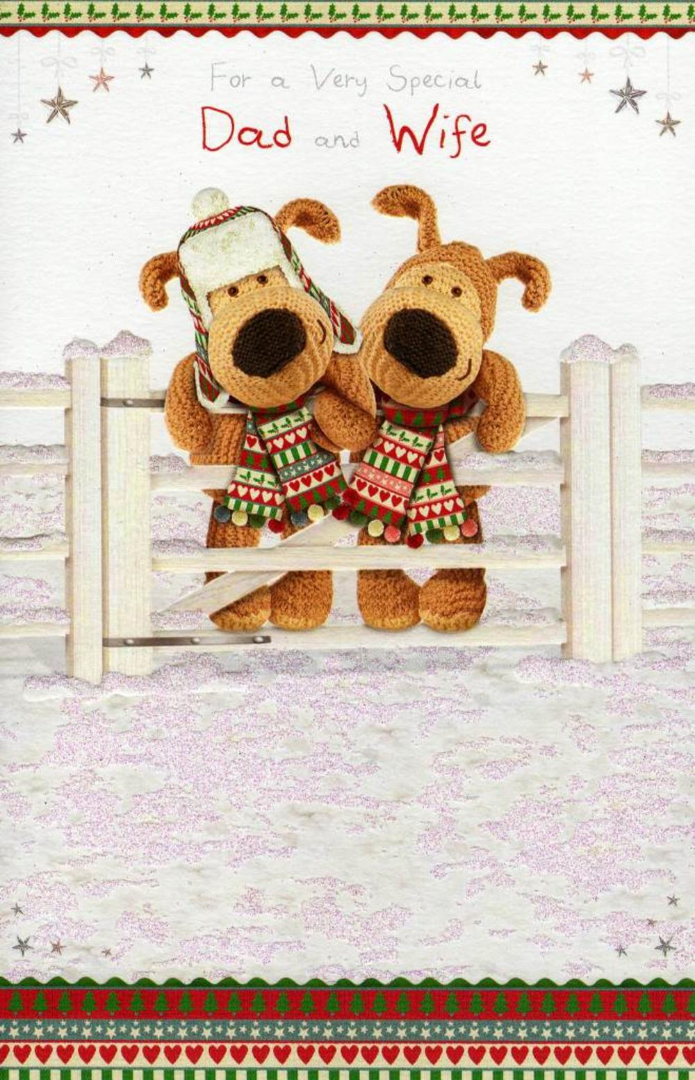 Boofle to dad his wife christmas card cards love kates boofle to dad his wife christmas card kristyandbryce Choice Image