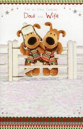 Boofle To Dad & His Wife Christmas Card