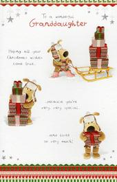 Boofle Wonderful Granddaughter Christmas Card