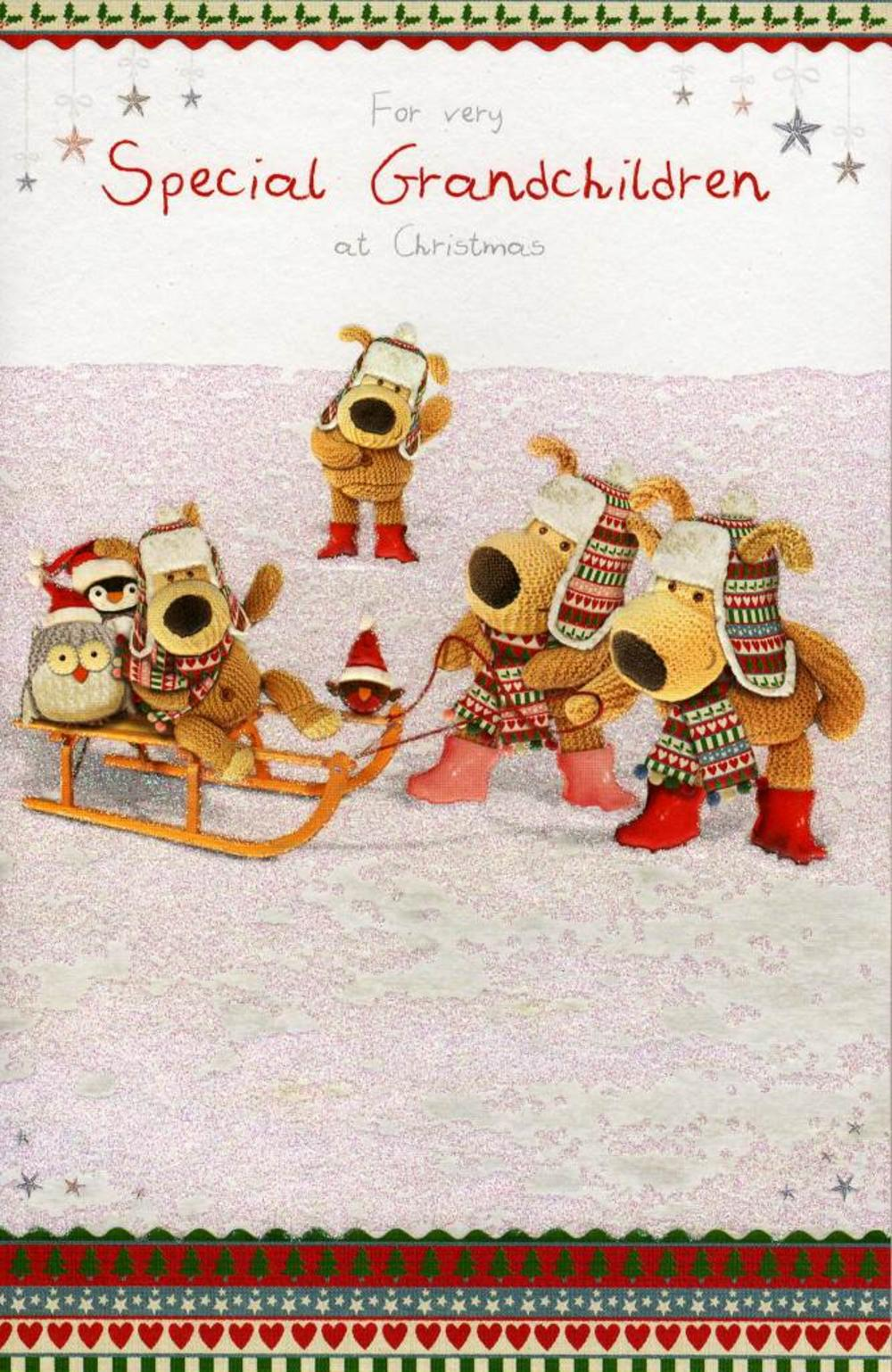 Boofle Very Special Grandchildren Christmas Card
