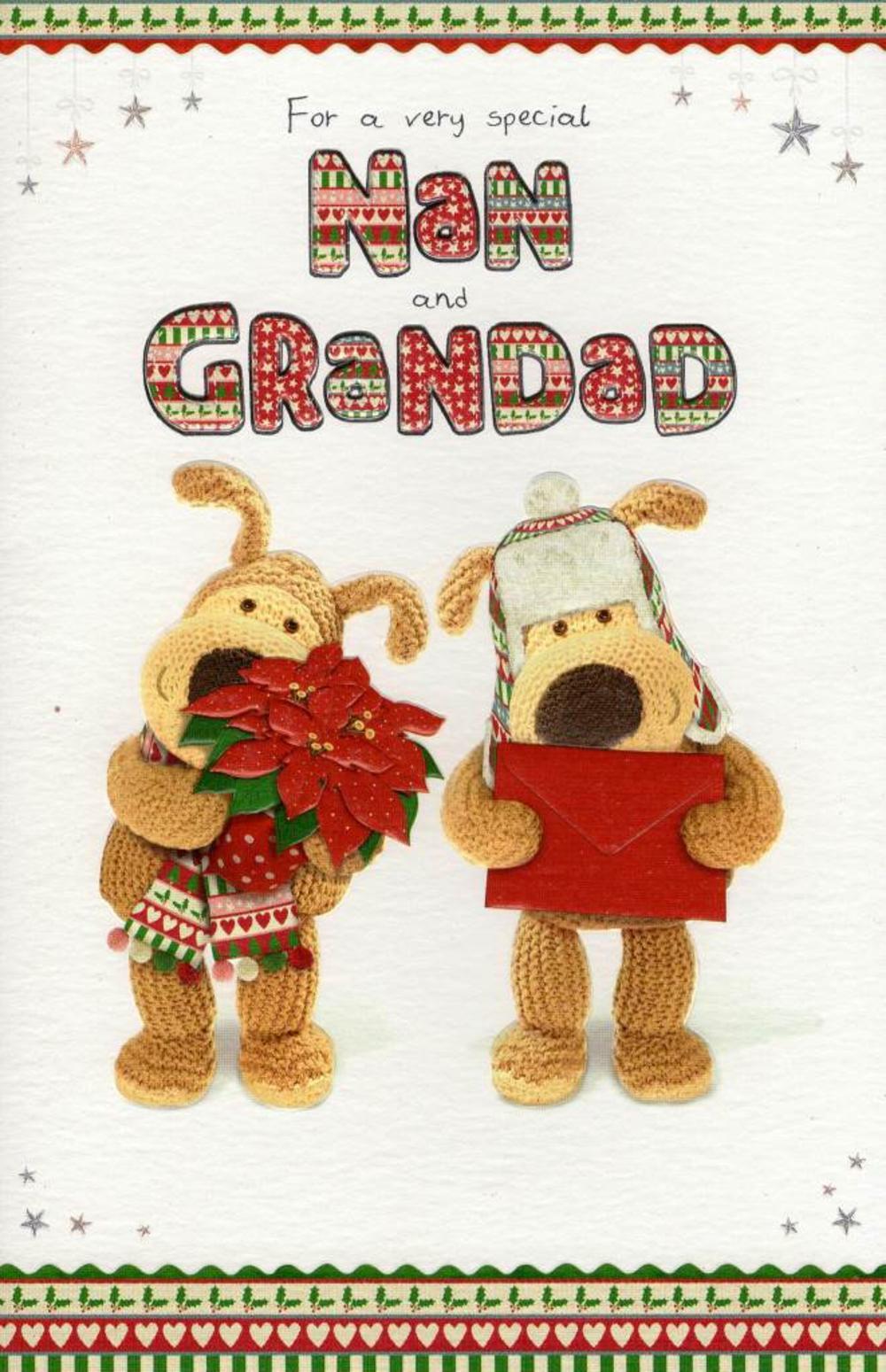 Boofle Nan & Grandad Christmas Card