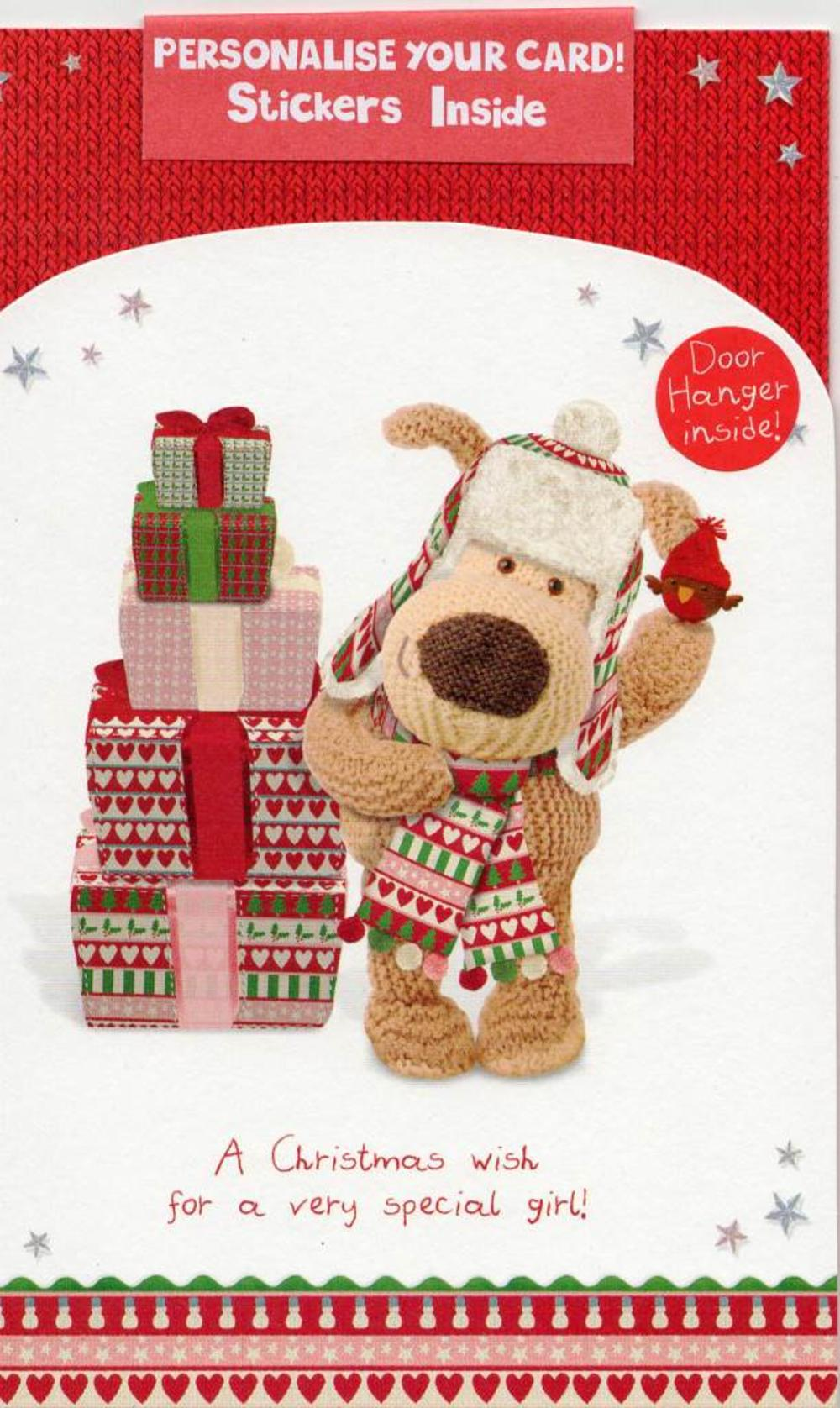 Boofle Personalised Kids Christmas Card Bedroom Door Hanger
