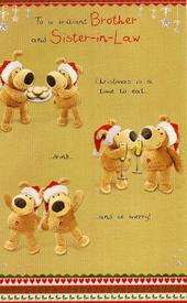 Boofle Brother & Sister-in-Law Christmas Card