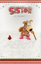 Boofle Lovely Sister Christmas Card