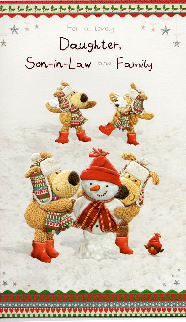 Boofle daughter son in law christmas card lovely xmas greeting sentinel boofle daughter son in law christmas card lovely xmas greeting cards m4hsunfo