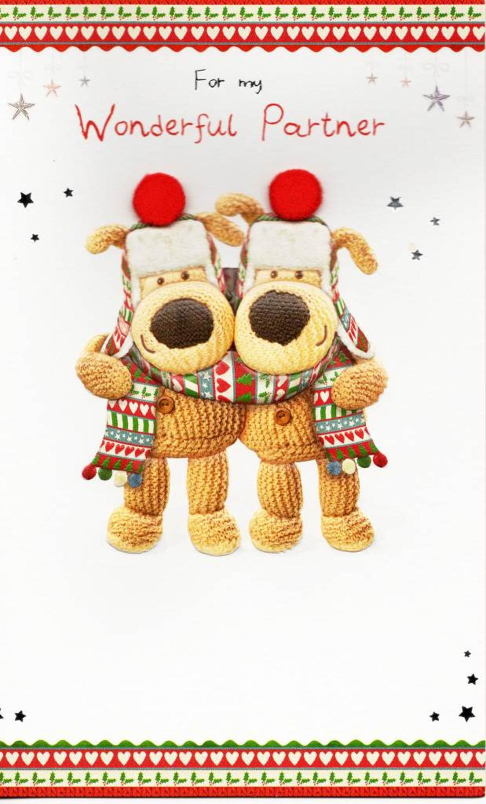 Boofle For My Wonderful Partner Christmas Card