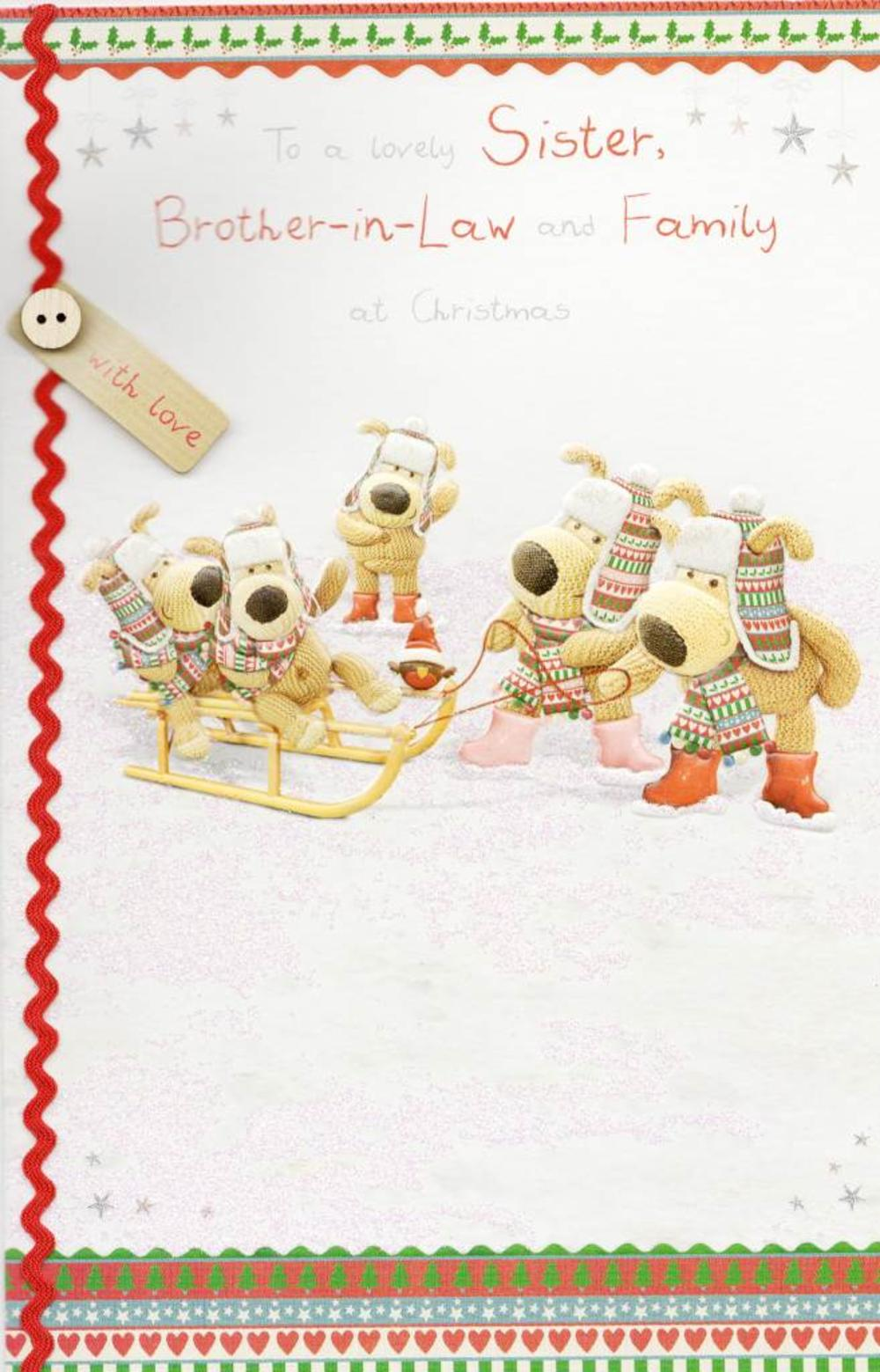 Boofle Sister & Brother-in-Law Christmas Card